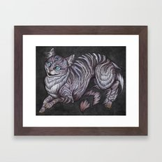 the Cheshire Cat art print Framed Art Print