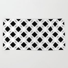Retro-Delight - Diamond Division - White Beach Towel