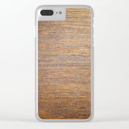 Rustic brown gold wood texture Clear iPhone Case