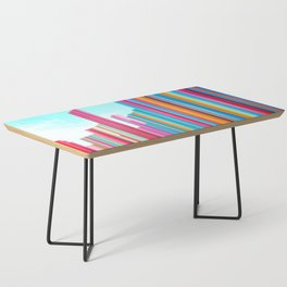 Colorful Rainbow Pipes Coffee Table