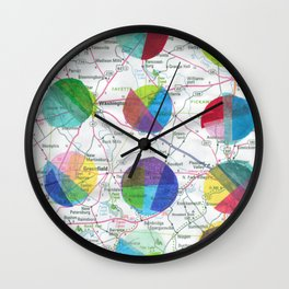 Dots on a Map Wall Clock