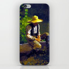 Winslow Homer The Whittling Boy iPhone Skin