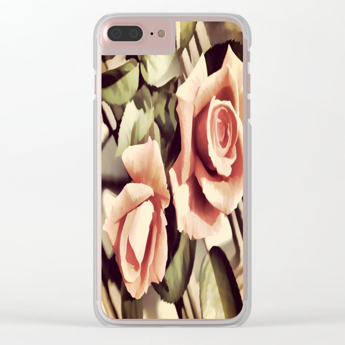 Vintage Rose Garden - Painterly Clear iPhone Case