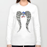 sonic Long Sleeve T-shirts featuring Sonic Angel by Hollie B