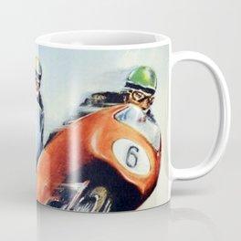 Nurburgring German Motorcycle Road Race Vintage Poster, Circa 1955 Coffee Mug