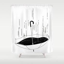 Bisognerebbe fare come il mare che gli piove dentro e poco gli importa Shower Curtain