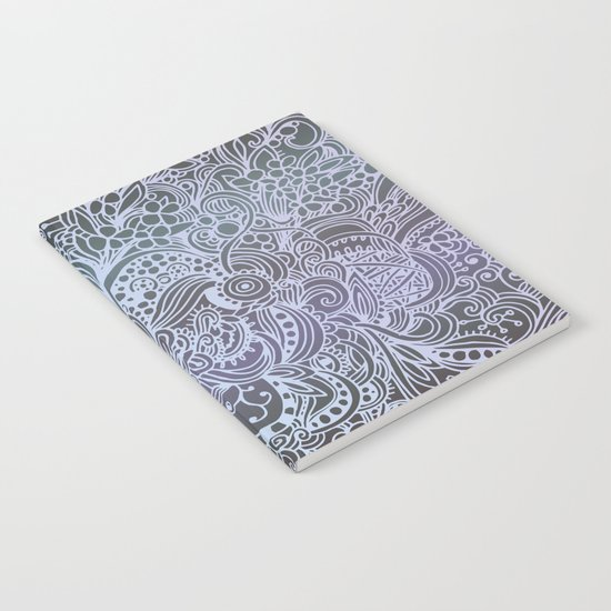 Detailed square, grey'n wedgwood Notebook