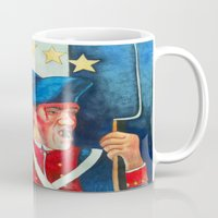american Mugs featuring American Soldier:  American Revolution by Trehan's Treasures