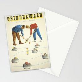Grindelwald, Swiss Vintage Travel poster Stationery Cards