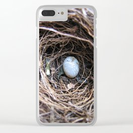 Summer Nest Clear iPhone Case