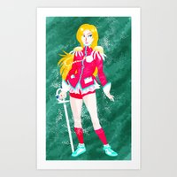 utena Art Prints featuring Revolutionary Girl Utena by lolcilc