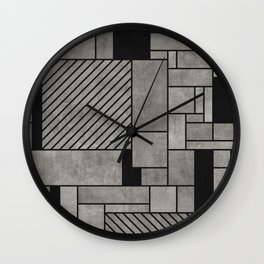 Abstract concrete pattern Wall Clock