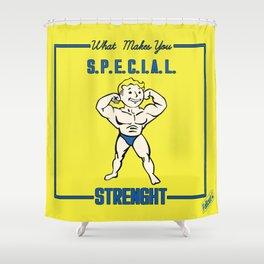 Strength S.P.E.C.I.A.L. Fallout 4 Shower Curtain