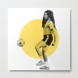 Marley playing soccer Metal Print