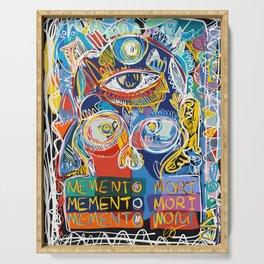 Memento Mori Graffiti Art by Emmanuel Signorino© Serving Tray