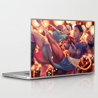 fight Laptop & iPad Skins featuring FIGHT! by MATT DEMINO