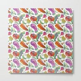 Garden Vegetables Metal Print