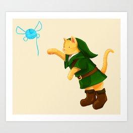 Kitty Link &  Yarn Navi  Art Print