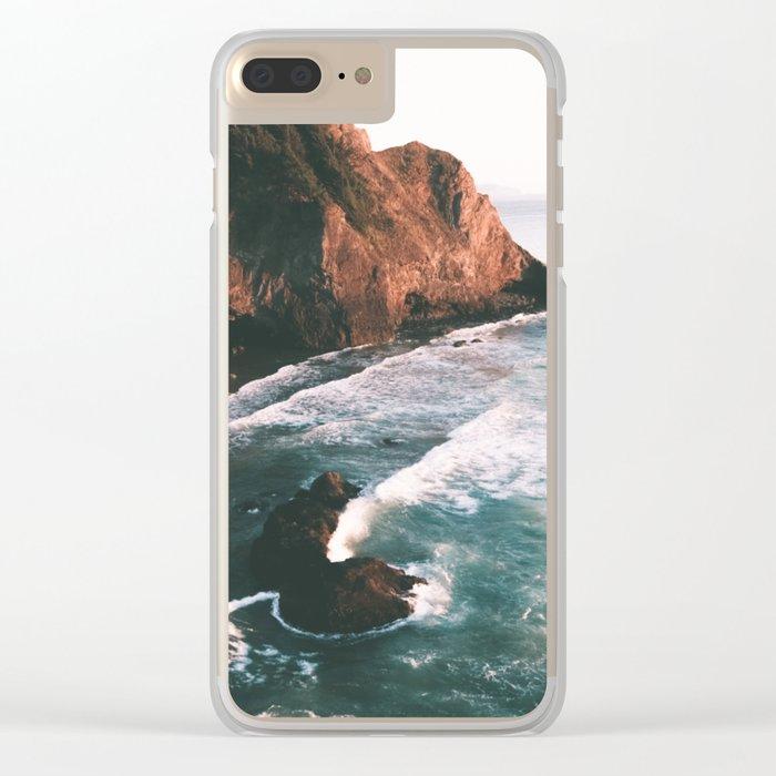 Oregon Coast V Clear iPhone Case