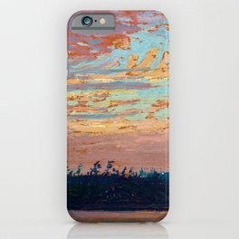 Tom Thomson - Sunset Sky - Canada, Canadian Oil Painting - Group of Seven iPhone Case