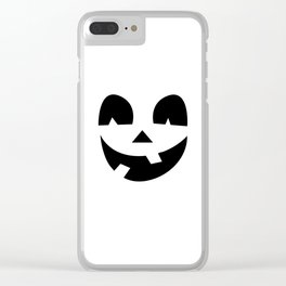 Silly Jack-O-Lantern Clear iPhone Case