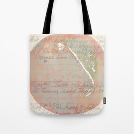 Great Grandpa's Diary with Peach Tote Bag