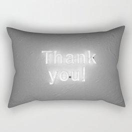 Thank You (Black and White) Rectangular Pillow