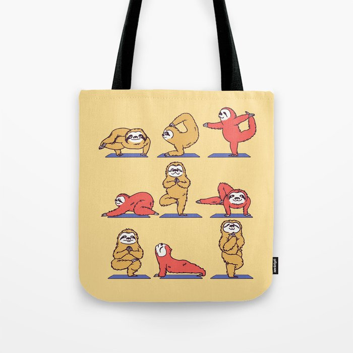 Sloth Yoga Tote Bag