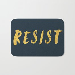 RESIST 6.0 - Freedom Gold on Navy #resistance Bath Mat