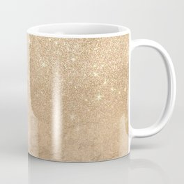 Glamorous Gold Sparkly Glitter Foil Ombre Gradient Coffee Mug