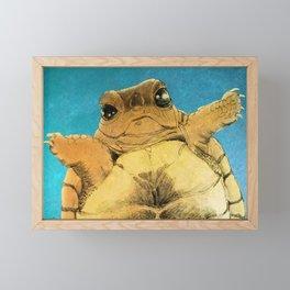 TURTLE HUG Framed Mini Art Print