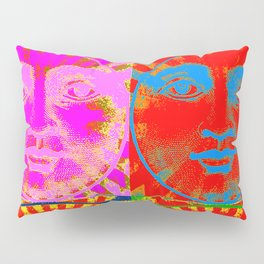 Four Faces of the sun ( psychedelic ) Pillow Sham