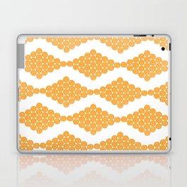 Orange Floral Doily Pattern Laptop & iPad Skin