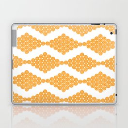 Orange Floral Doily Pattern Laptop & iPad Skin