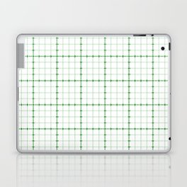 Dotted Grid Weave Green Laptop & iPad Skin