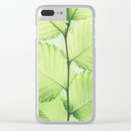 Turkish hazel leave – Baumhaselblätter Clear iPhone Case