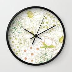 Big Blooms Wall Clock