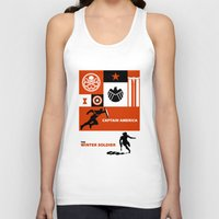 winter soldier Tank Tops featuring the winter soldier by robin