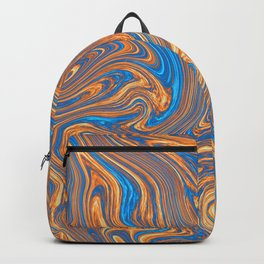 Coffee pattern with notes of sea breeze Backpack