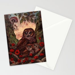 Tawny Owlets Stationery Cards
