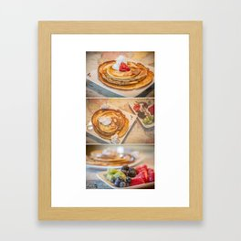 Yummy pancakes Framed Art Print