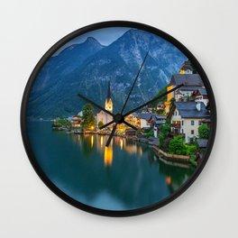 Hallstatt Village, Alps Wall Clock