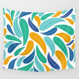 Tropical Colors Abstract Pattern Wall Tapestry