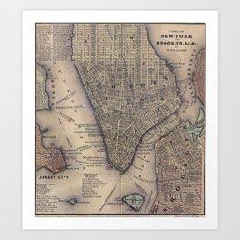 Lower Manhattan New York City Art Print