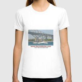 Boating under Bluewater Bridges T-shirt