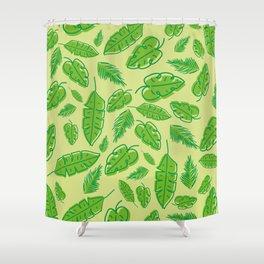 Tropical bandwagon Shower Curtain
