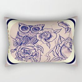 Design by Steph Darling at The Nines Tattoo and Art Parlor  Rectangular Pillow