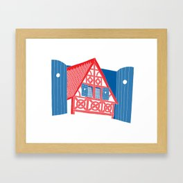 French House Framed Art Print
