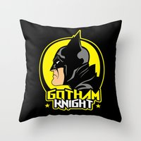 knight Throw Pillows featuring Knight by Buby87