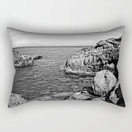 dramatic black and white - Tenerife Rectangular Pillow